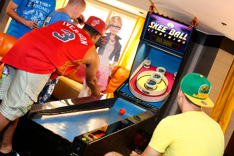 skee ball tournament frat house man cave party