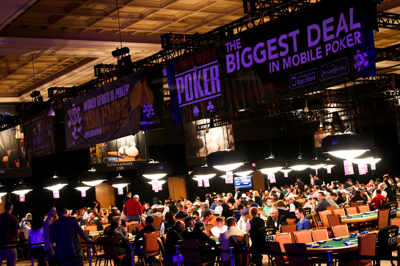Opening day at the World Series of Poker