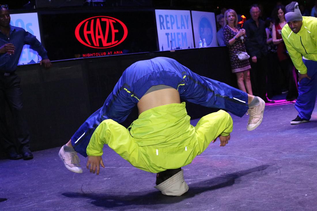 Break dancer company party haze nightclub