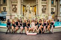Bachelorette photographer on the Las Vegas Strip