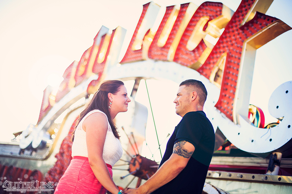 Engagement Session Photo Shoot Las Vegas Neon Museum Boneyard Fremont Street