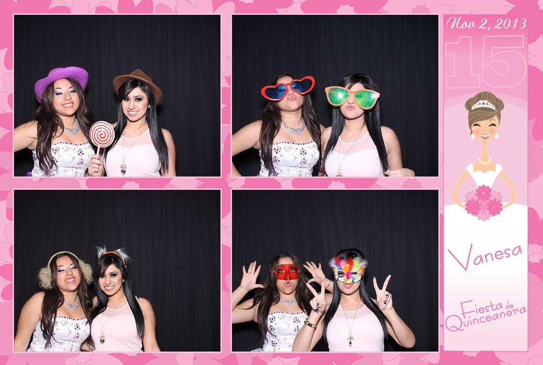 Photo Booth Photo Strip for Quinceañera