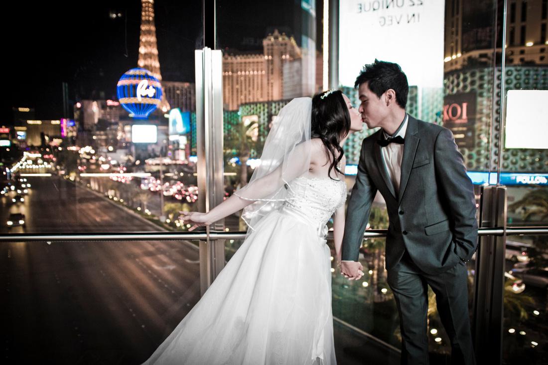 Wedding photography on the Las Vegas Strip.