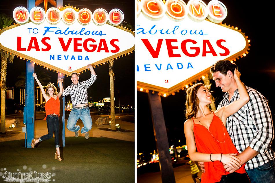 Las Vegas Engagement Photography Session at the Las Vegas Sign.