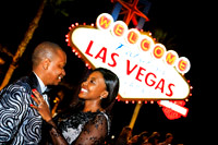 Wedding photos at the Las Vegas Sign