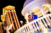 Anniversary photos on the Vegas Strip