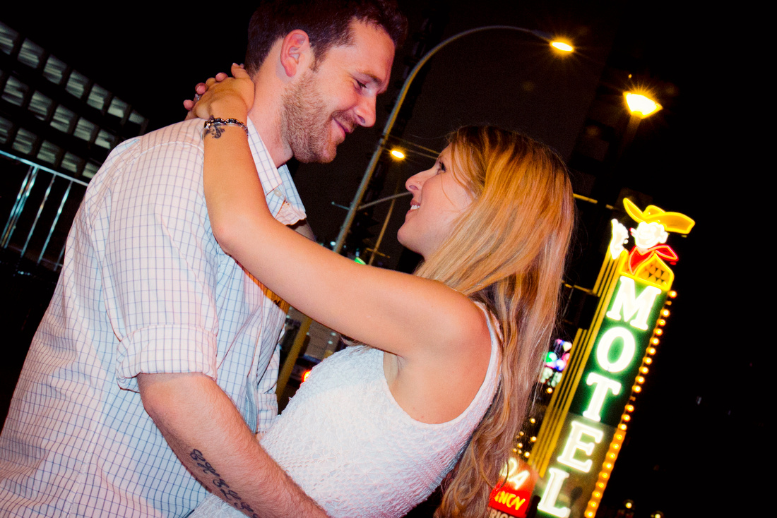 Downtown Las Vegas Engagement Photography