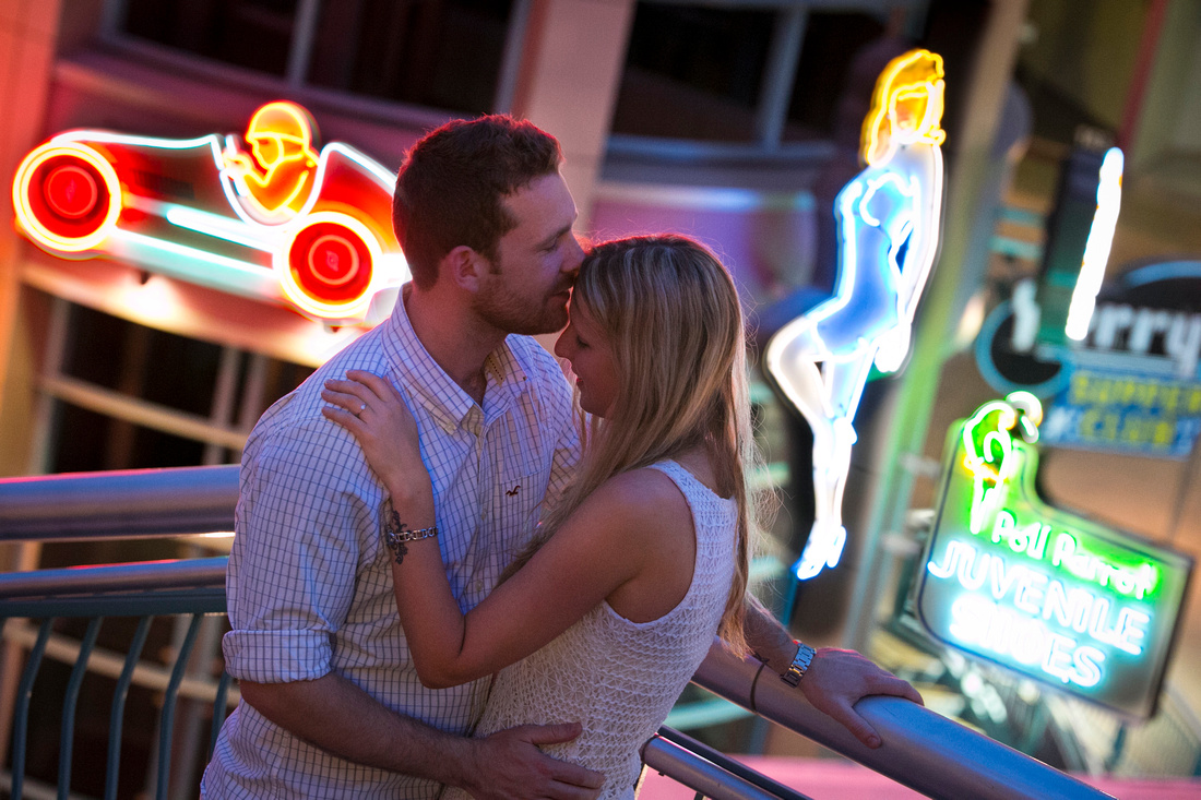 Neonopolis - Neon background engagement shoot