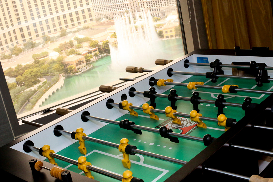 foos ball tournament bellagio fountains