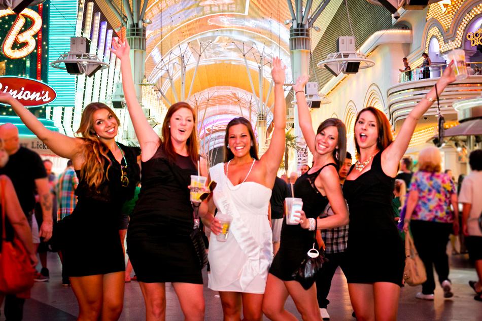 Downtown Las Vegas Fremont St Bachelorette Party