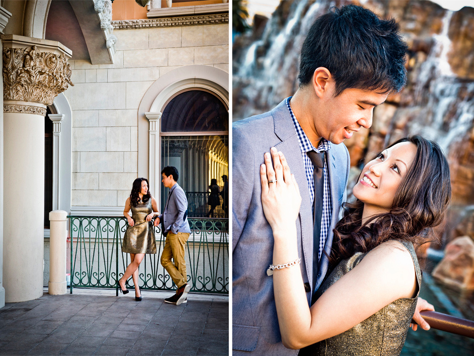 Engagement photography on the Las Vegas Strip.