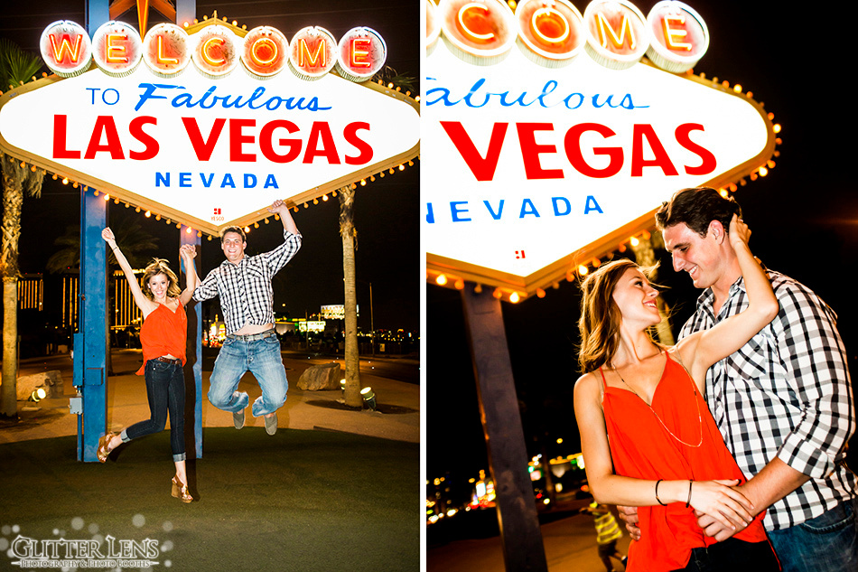Las Vegas Engagement Photography Session at the Las Vegas Sign.