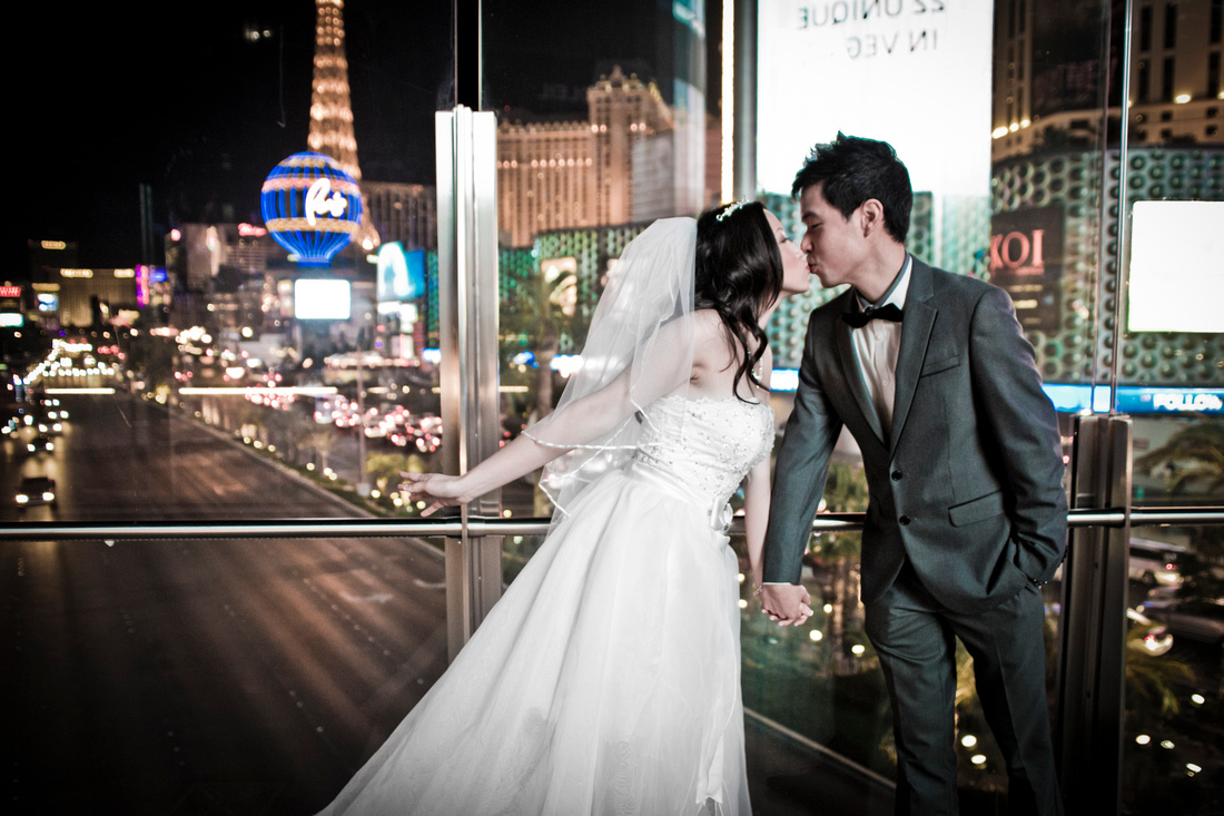 Wedding photography on the Las Vegas Strip.