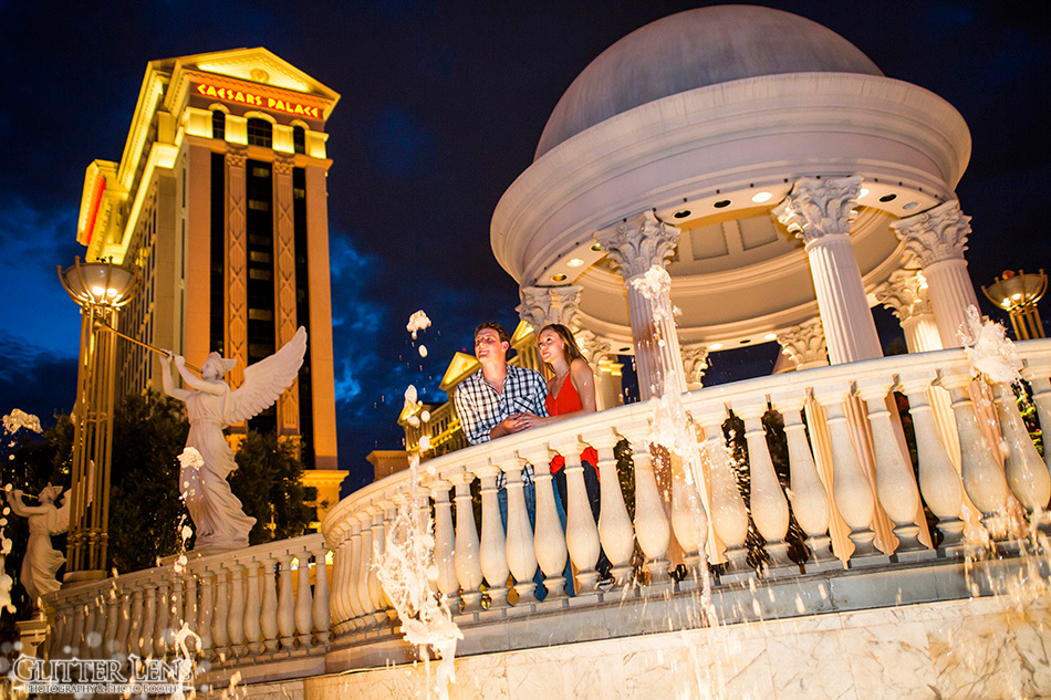 Las Vegas Engagement Photography Session at the Las Vegas Strip.